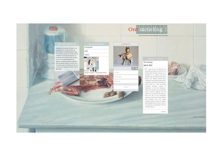 ontzameling | vormgeving, ontwerp & strategie | logo & website
