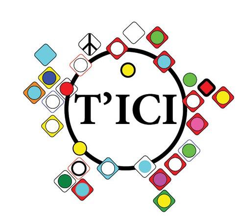 T'ICI | grafische vormgeving van logo